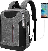 کوله پشتی Lindan Slim Travel Laptop، 15.6-Inch Laptop Backpack for Women مردان ضد سرقت کوله پشتی کالج مقاوم در برابر آب ضد آب با USB Charing Port-Grey