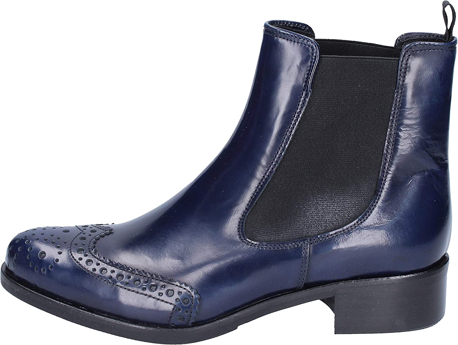 VSL Boots Womens Leather bluee