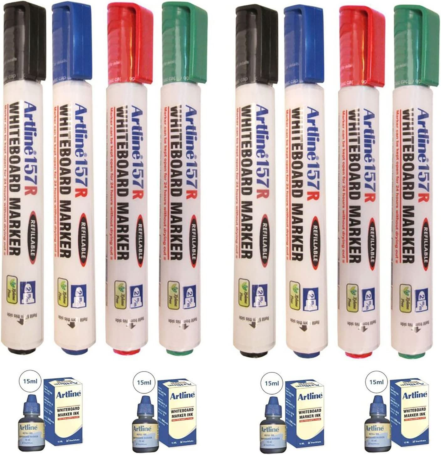 Artline EK157R Whiteboard Manufacturer direct delivery Marker Charlotte Mall Colours Refills-Mixed with
