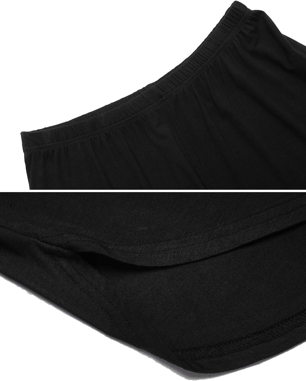 Ekouaer Women's Pajama Short Sleeve Sleepwear Soft Pj Set Top and Shorts Pajamas Set