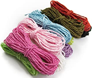 All In One 10 Color 300 Yards Twisted Paper Craft String/Cord/Rope (1-1.5mm Thickness)
