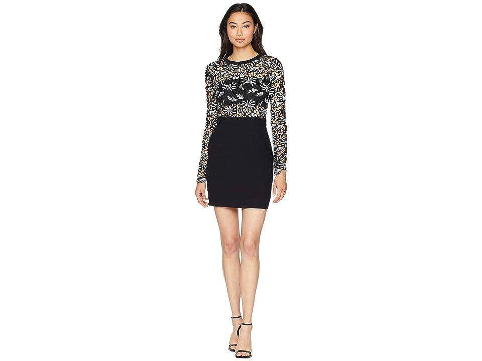 ROMEO & JULIET COUTURE Crochet Lace Dress (Black) Women