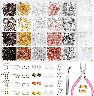 Earring Making Kit, Shynek 2343pcs Earring Making Supplies with Earring Hooks, Jump Rings, Earring Posts, Earring Backs an...