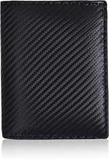 Eono by Amazon - Cartera de Cuero para Mujer y Hombre con diseño Plano y protección contra Lectura RFID (marrón Vintage/Cu...