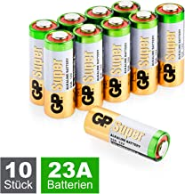 GP Batteries 23A / A23 / MN21 / V23GA Super Alkaline High-Voltage Batterien 12V (12 Volt) 10 Stück im Sparpack