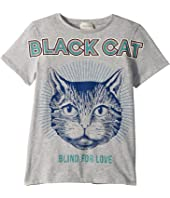 Gucci Kids - Black Cat T-Shirt (Little Kids/Big Kids)