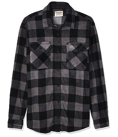 Wrangler Long Sleeve Plaid Fleece Shirt Jacket