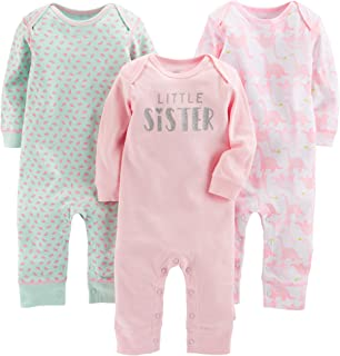 Simple Joys by Carter's Girls' 3-Pack Jumpsuits