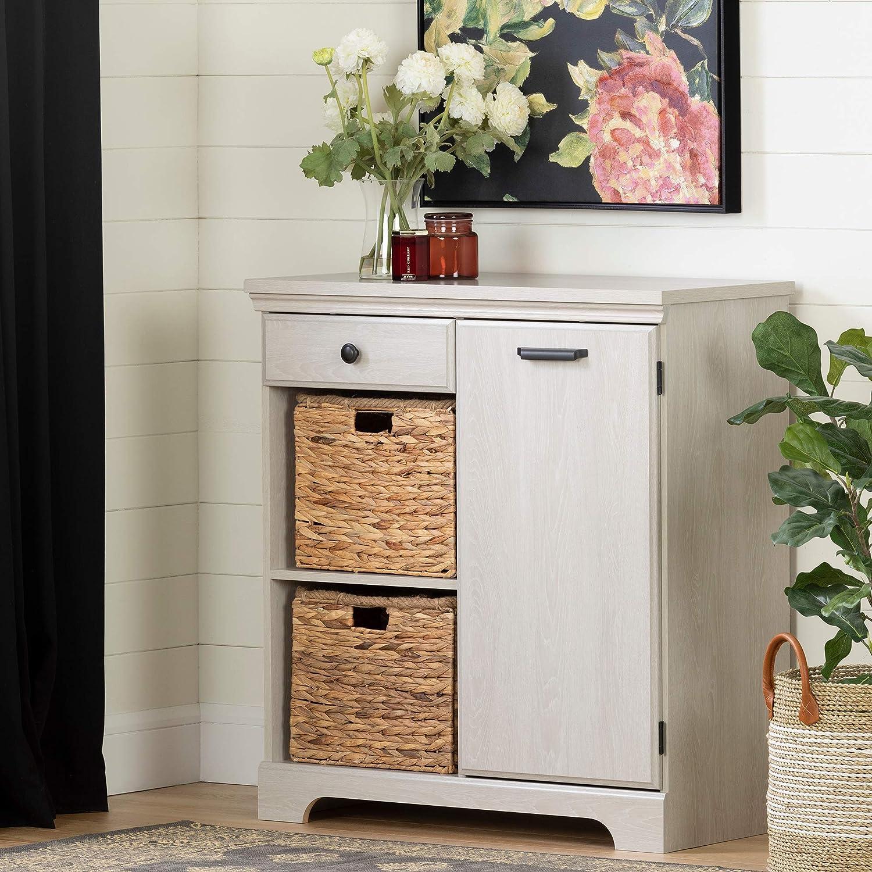 South Shore 12313 Versa 1-Door Storage Cabinet-Winter Oak