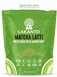 Lakanto Matcha Latte, Green Tea Powder with Probiotics and Fiber, Keto (10 Ounce)