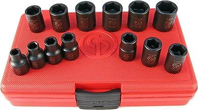 "Chicago Pneumatic Conjunto de soquetes de impacto métrico SS3113 de 9,5 mm (3/8"")"