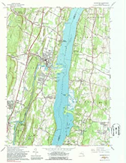 YellowMaps Saugerties NY topo map, 1:24000 Scale, 7.5 X 7.5 Minute, Historical, 1963, Updated 1989, 27 x 22 in