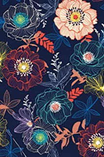 Lined Notebook: Beautiful Floral paperback, Journal for men and women, children, Girls, Guys. Size 6×9 Inches, 120 pages