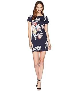 Riviera Short Sleeve Printed Jersey Dress