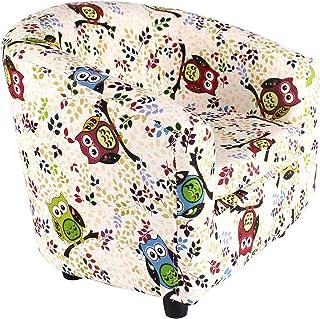 Emall Life Fauteuil d'Enfant Chaise de Baignoire Canapé à Dessin Animé Cadre en bois (Grand Hibou)