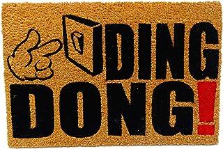 koko doormats felpudos Entrada casa Originales, Fibra de Coco y PVC, Felpudo Exterior Ding Dong!, 40x60x1.5 cm   Alfombra ...