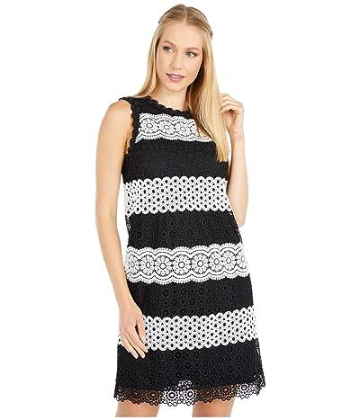 Kate Spade New York Floral Dot Lace Shift Dress (Black) Women