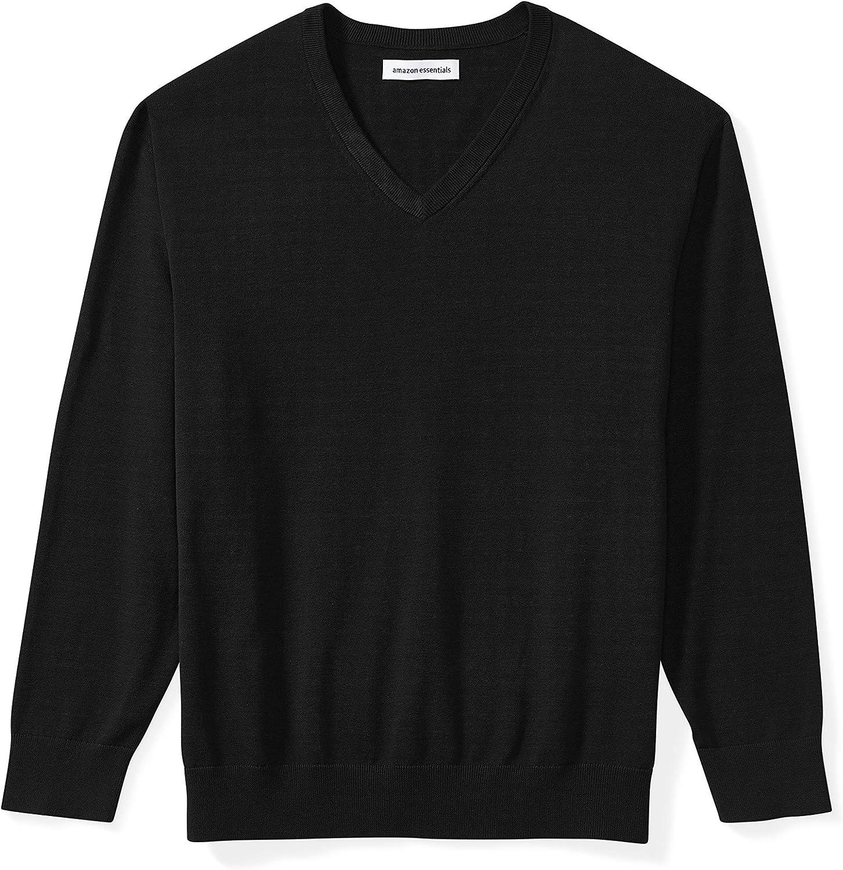 Amazon Essentials Men's Big and Tall V-neck Sweater