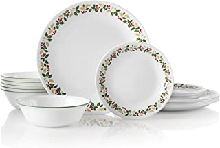Corelle 18-Piece Service for 6, Chip Resistant, Holiday Berries Dinnerware Set
