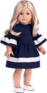 DreamWorld Collections - Navy Blue - Dress Fits 18 Inch American Girl Doll (Doll Not Included) (Shoes not Included)