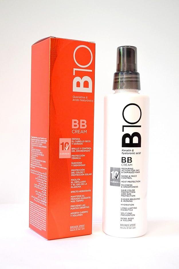 カストディアン平らなブレスBroaer B10 BBクリームケラチン&ヒアルロン酸200 ml。