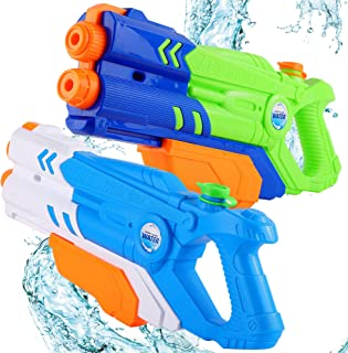 PhyPa Large Size 2 Pack Water Guns for Kids Double Nozzle Water Soaker Blaster Toy for Girls and Boys, Children Summer Swi...