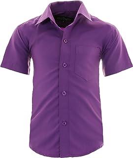 267997caf7461 GILLSONZ A0 Kinder Party Hemd Freizeit Hemd bügelleicht Kurz ARM mit 9  Farben Gr.86