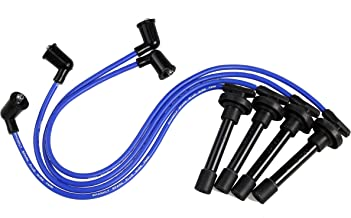 Premium Spark Plug Wire Set, Blue (Fits certain Honda and Acura and other Makes) 12 Month Manufacturer Warranty