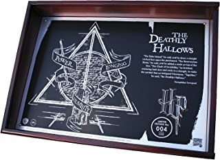 Harry Potter Deathly Hallows Collectible, Limited Edition Acid Etched Metal Plaque in Timber Display Case with Certificate of Authenticity, 20th Anniversary