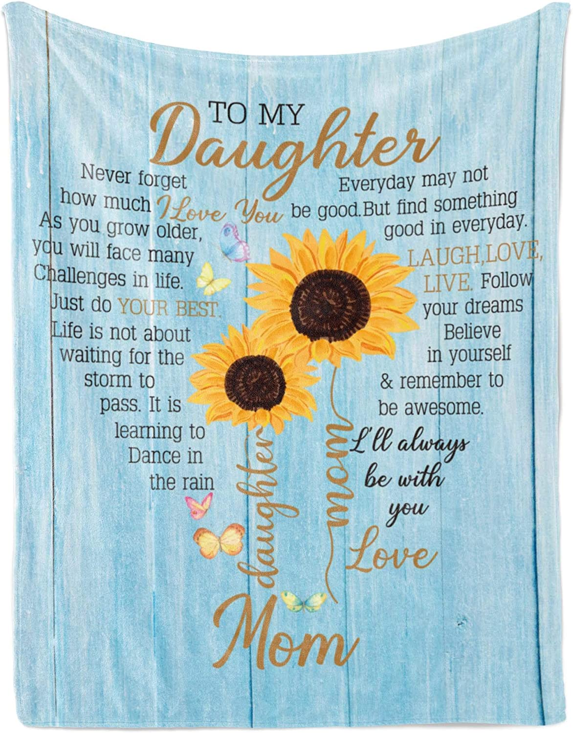 Superlatite Flannel Blanket Trust – Gift from Daughter to Personalized Fleece Mom