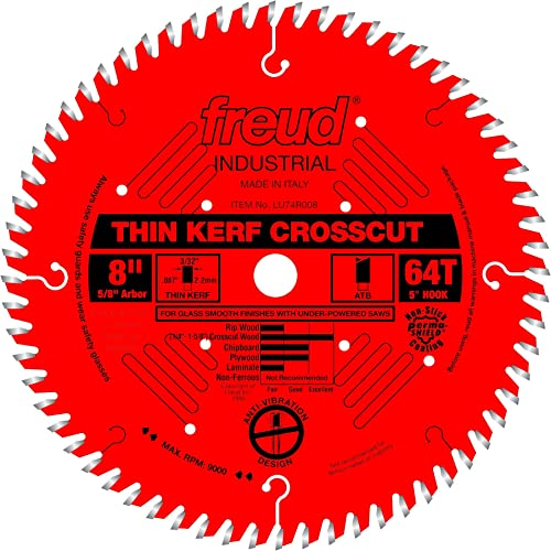 """wholesale Freud 8"""" x sale discount 64T Thin Kerf Ultimate Cut-Off Blade (LU74R008) outlet sale"""