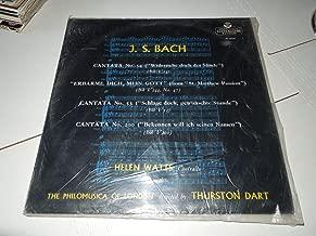 J. B. Bach Helen Watts Contralto Philomusica of London / Thurston Dart. England