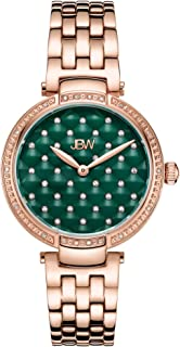 JBW Luxury Women's Gala .18 Carat Diamond & Swarovski Crystal Wrist Watch with Stainless Steel Bracelet