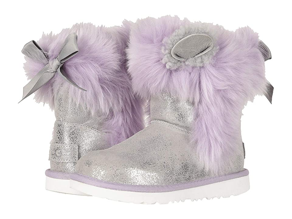 UGG Kids Maizey Classic II (Little Kid/Big Kid) (Silver/Lavender) Girls Shoes