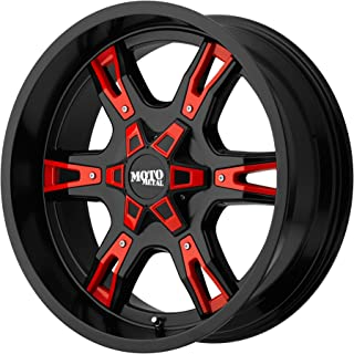 Moto Metal MO969 Satin Black Wheel With Red And Chrome Accents (20x9