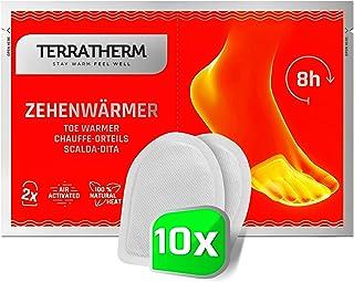 TerraTherm fotvärmare dynor, tåvärmare självhäftande för varma fötter i 8 timmar, värme-pads fötter - extra tunna och beha...