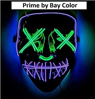 Double Color Led - Halloween Led Mask - Led Face Mask - Led Purge Mask - Prime by Bay Color