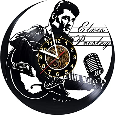 Iskra Shop Elvis Presley - Vinyl Record Wall Clock - Poster - Get Unique Living Room Wall Decor - Gift Ideas for Boys and Gir