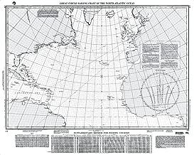 Paradise Cay Publications NGA Chart 17: Great Circle Sailing Chart No. Atlantic (TRADITIONAL PAPER) 32 x 41