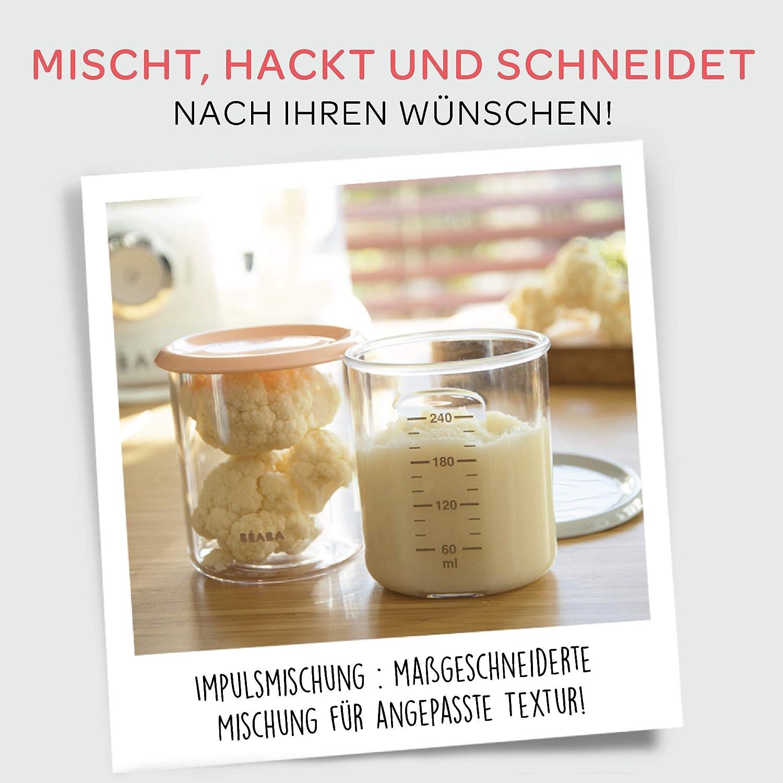 B/ÉABA Babycook Duo 4-in-1-Babynahrungszubereiter Schnelles Dampfgaren in 15 Minuten Schwarz 2.200 ml XXL-Fassungsverm/ögen Dampfgarer
