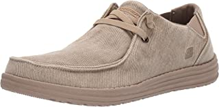 Skechers mens MELSON-RAYMON CANVAS SLIP ON
