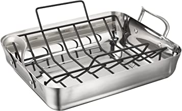 Calphalon LRS1805P Contemporary 16-Inch Stainless Steel Roasting Pan with Rack