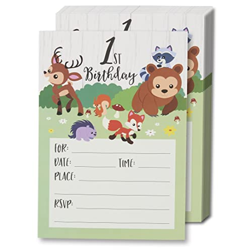 1st Birthday Invitation Card Amazon Com