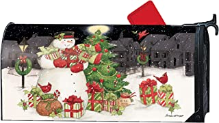Mailwraps Studio M Hometown Snowman, Winter Christmas, The Original Magnetic Mailbox Cover, Made in USA, Superior Weather Durability, Standard Size fits 6.5W x 19L Inch Mailbox