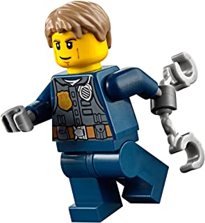 LEGO City MiniFigure: Police - Undercover Chase McCain (Dark Blue Uniform w/ Handcuffs)