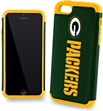 Forever Collectibles Dual Hybrid 2-Piece TPU Case for iPhone 5c - Retail Packaging - Green Bay Packers
