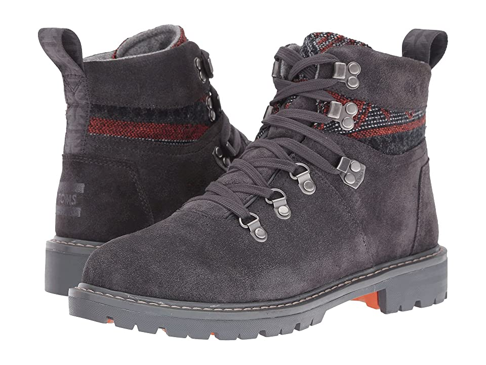 TOMS Summit Waterproof Boot (Forged Iron Grey Suede/Tribal Textile) Women