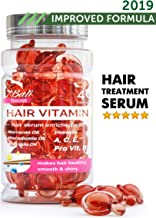 Hair Treatment Serum by Bali Secret – 2019 Improved Formula – No Need to Rinse – with Argan Macadamia Avocado Oils – Vitamins A C E Pro Vitamin B5 – Best Women Hair Oil Conditioner for All Hair Types