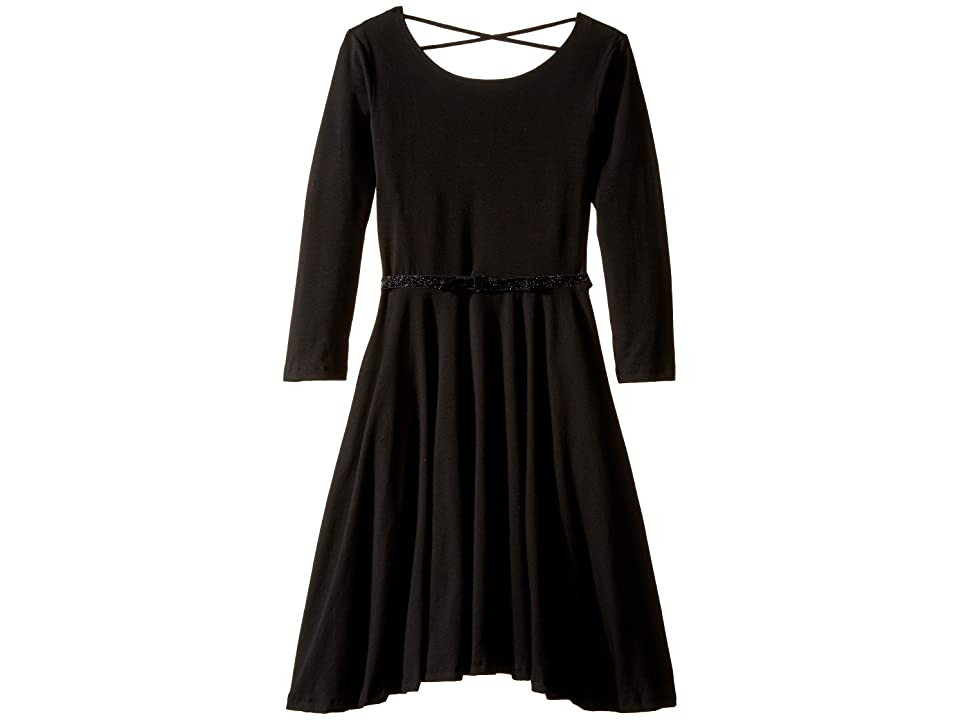 fiveloaves twofish Ballerina Skater Dress (Little Kids/Big Kids) (Black) Girl