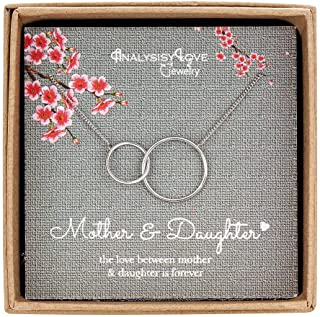AnalysisyLove Mother Daughter Necklace - Sterling Silver...